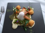 Mudbrick Gurnard with Cauliflower Puree and Dauphinoise potato